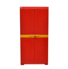 Nilkamal Freedom Mini Medium Storage Cabinet FMM, Red/Yellow