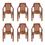 Nilkamal CHR6020 Chair Set of 6 - Mango Wood
