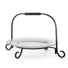 Glass Platter with Stand - @home by Nilkamal