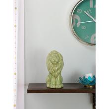 Large tropical Sitting Lion 25CM Showpiece, Green