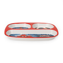 Spiderman Rectangle 3 Section Dinner Plate - @home by Nilkamal, Multicolor