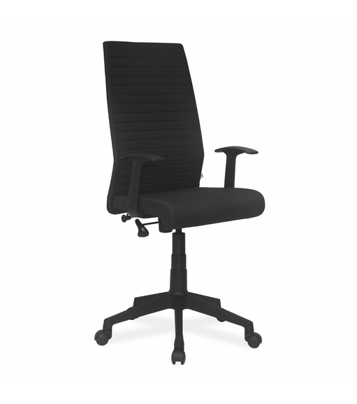 Nilkamal Thames High Back Fabric Office Chair, Black