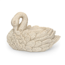 Swan LED 37 cm x 24 cm x 24 cm Water Fountain - @home by Nilkamal, Grey