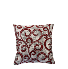 Scroll 40 cm x 40 cm Cushion Cover Set of 2 - @home by Nilkamal, Maroon