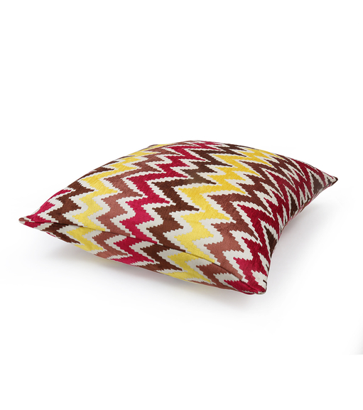 Zigzag 61 cm x 61 cm Filled Cusion - @home by Nilkamal, Multicolor