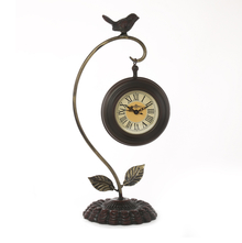 Hanging Birdy Table Clock - @home by Nilkamal, Brown