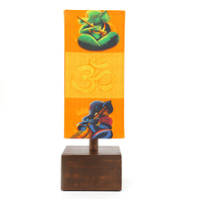 Musical Ganpati Fabric & Wood Table Lamp - @home by Nilkamal, Multicolor