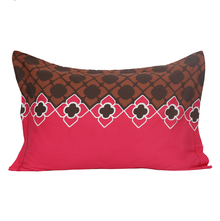 Dalliance Geo 45 cm x 68 cm Pillow Cover Set of 2 - @home by Nilkamal, Fushcia