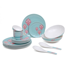 Classic 22 Pieces Dinner Set - @home by Nilkamal, Sea Green