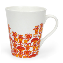 Zing Floral 380 ml Coffee Mug - @home by Nilkamal, Red