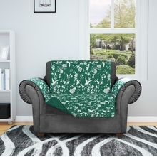 Printed Sofa Cover, Emerald, 3 seater