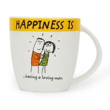 Hap Loving Man 320 ml Coffee Mug - @home by Nilkamal, Yellow