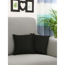 Textured 30 cm x 30 cm Cushion Cover, Black