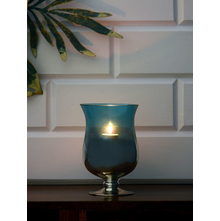 Azure Aura Hurricane Candle Stand, Sea Green