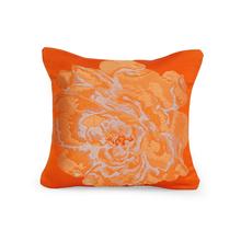 Floral 30 cm x 30 cm Cushion Cover, Orange