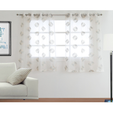 Oriental Zari 112 cm x 152 cm Window Curtain Set of 2 - @home by Nilkamal, White