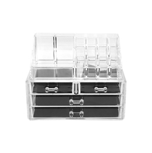Cosmetic Organizer with 4 Drawer, Tranparent