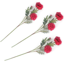 Marigold Flower Stick Set of 3 - @home by Nilkamal, Pink