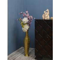 Monarc Cutwork Curve Vase, Gold