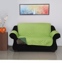 2 Seater Reversible Sofa Cover 179 cm x 223 cm - @home by Nilkamal, Light & Dark Green