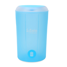 Idee 5 Litre Swing Top Round Dustbin - @home by Nilkamal, Blue