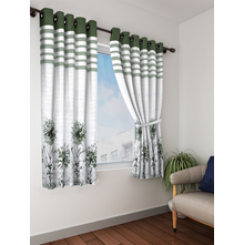 Leaf Blackout Window Curtain Set of 2, Green