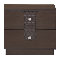 Triumph Night Stand 2 Drawer - @home Nilkamal,  dark walnut