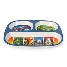 Avengers Rectangle 3 Section Dinner Plate - @home by Nilkamal, Multicolor