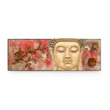 Moksha Buddha Wall Decor - @home by Nilkamal, Maroon