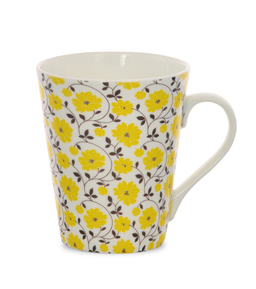 Aroha Floral Coffee Mug - @home by Nilkamal, Yellow