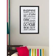 Set of 2 Inspire Love Picture Frame-@home By Nilkamal, Black & White