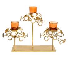 Teen Kali Large Candle Stand - @home by Nilkamal, Gold