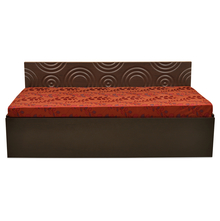 Nilkamal Prizm Sofa Cum Bed, Wenge & Maroon