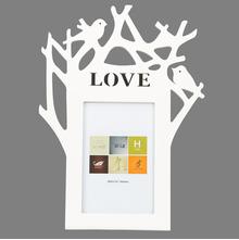 Single Tree Bird MDF Photo Frame 4X6Inch, @home by Nilkamal, White