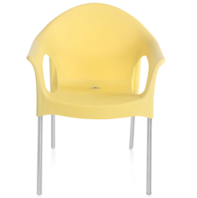 Nilkamal Novella 09 Stainless Steel Chair - Yellow