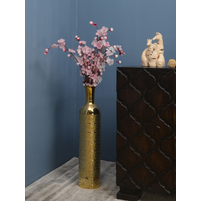 Monarc Circular Tall Vase, Gold