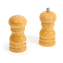 Bergner Wood 10 cm Salt Shaker Pepper Mill Set of 2, Brown