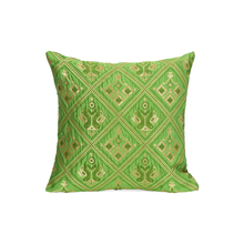 Patola 30 cm x 30 cm Set of 2 Cushion Cover, Green