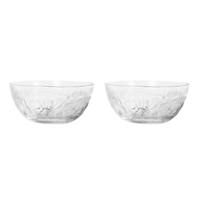 Gemini Glass Set of 2 Snack Bowl, Transparent