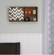 Monah Horizontal Wall Cabinet, Walnut