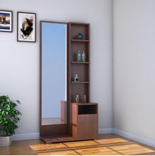 Sansa Dresser with Mirror - @home by Nilkamal, Walnut