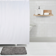 Promo Striped Fabric Bath Set, Grey