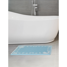 Flamingo 45 cm x 35 cm Bath Mat,  blue