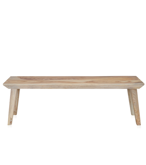 Magix 2 Seater Dining Bench - @home by Nilkamal, White Natural