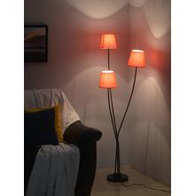 Mushroom 3 Shade 22X145CM Floor Lamp, Red