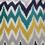 Zigzag 40 cm x 40 cm Filled Cushion - @home by Nilkamal, Multicolor