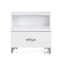 Vienna Night Stand with 2 Drawer - @home By Nilkamal, White