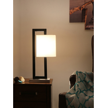 Abstract Square Table Lamp, Black