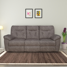 Winters 3 Seater Sofa with 2 Manual Recliners, Rose Grey
