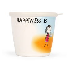Happiness Radiant 700ML Storage Jar, White